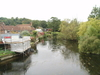 The view from the bridge over the River Avon in Harnham.