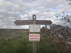 A Cleveland Way fingerpost outside Boltby Forest.