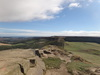 The view from Roseberry Topping summit towards Great Ayton Moor.
