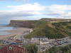 The view along the cliffs east from Saltburn.