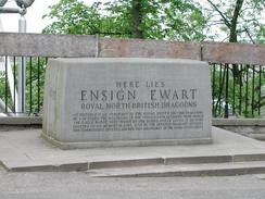P6080041	The memorial to Ensign Ewart in the car park at Edinburgh Castle.