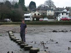 P20031240070	Myself on the stepping stones in Larryn.