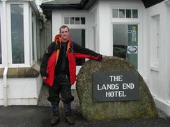 P20032060049	Myself outside the Land's End Hotel.