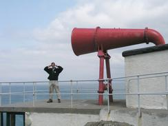 P20037135243	Myself by the foghorn of Ardnamurchan Point lighthouse.
