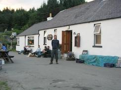 P20037175480	Myself standing outside the Old Forge Pub in Inverie.