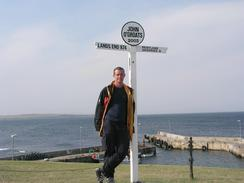 P20038177230	Myself at John O'Groats.