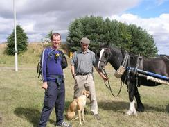 P20038270183	Myself, simon, dog and horse.