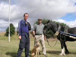 P20038270184	Myself, simon, dog and horse.