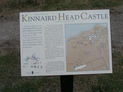 P20039078259	An information board about Kinnaird Head castle.