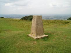P20047280899	The trig point on Cleeve Common.