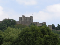 P20057166680	Dover Castle viewed from Pencester Gardens.