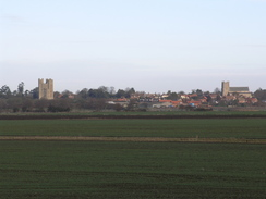 P2005C048696	Orford Castle and Church viewed from near Chantry Point.