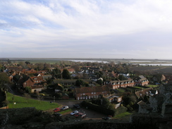 P2005C048718	The view from the roof of Orford Castle.