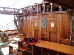 P20089215388	The front deck of the Jeanie Johnston.