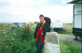O14	Myself standing at the trig point on Walbury Hill - Berkshire's highest point.