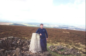 S23	Myself at the Trig Point on Lammer Law.