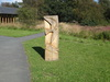 A sculpture outside the Sutton Bank Visitor's Centre.