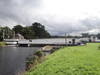 A swing bridge over the Caledonian Canal in Inverness.
