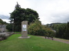 The stone marking the end of the Great Glen Way outside Inverness Castle.